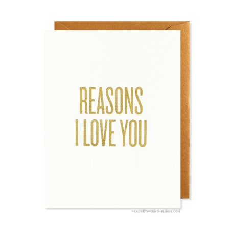 Reasons I Love You Greeting Card, Greeting Cards, Eversmart Beauty