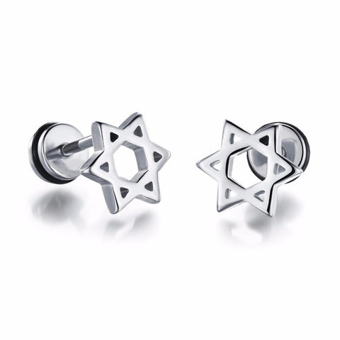 Star of David Stainless Stud Earrings, , Eversmart Beauty