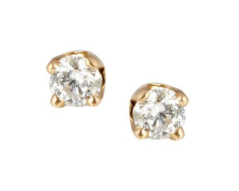 Swarovski® Diamond Heaven's Diamond and Gold Stud Earrings, diamond earrings, Heaven Culture Jewelry