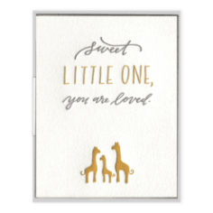 Sweet Little One You Are Loved Greeting Card