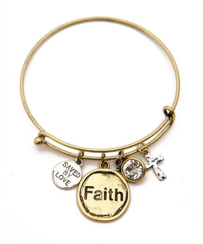 Faith Charm Bracelet 🎀, Heaven Culture Bracelet, Eversmart Beauty