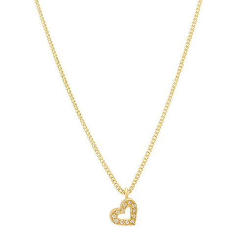 The Father's Love Diamond Necklace, Heart Gold and Diamond Necklace, Heaven Culture Jewelry