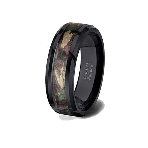 Host of Heaven Camo Tungsten Ring, Camo Host of Heaven Tungsten Ring, Heaven Culture Jewelry