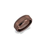 Mens Wedding Band Rare Brown Tungsten Ring Wire Brushed Brushed Comfort Fit, Tungsten Ring, Eversmart Beauty