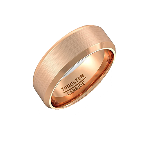 Rose Gold Tungsten Ring, Tungsten Ring, Eversmart Beauty