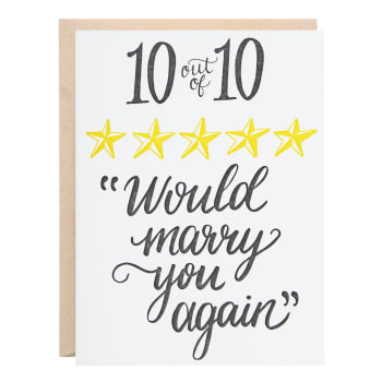 Would Marry You Again Greeting Card