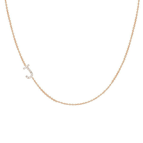 Your Initial Diamond Necklace
