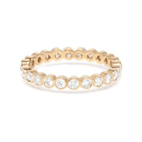 14K Yellow Gold God Eternity Heaven Culture Diamond Ring (.50 - .60 Carat), Heaven Culture Eternity Diamond Ring, Eversmart Beauty