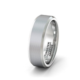 Brushed Tungsten Ring, Tungsten Ring, Heaven Culture Jewelry