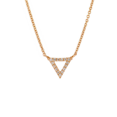 14K Rose Gold Diamond Trinity Pendant Necklace - 0.25 ctw, Trinity Heaven Culture Necklace, Eversmart Beauty