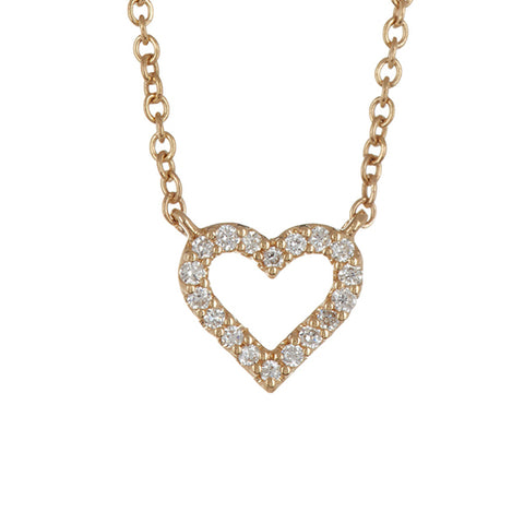 14K Yellow Gold God's Heart Diamond Pendant - 0.25ctw, God's Heart Diamond Necklace, Heaven Culture Jewelry