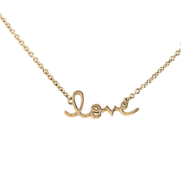 14K Gold God is Love Necklace, Love Heaven Culture Necklace, Heaven Culture Jewelry