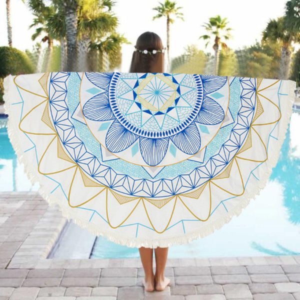 Floral Round Beach / Yoga Blanket, Floral Round Beach / Yoga Blanket, Heaven Culture Jewelry