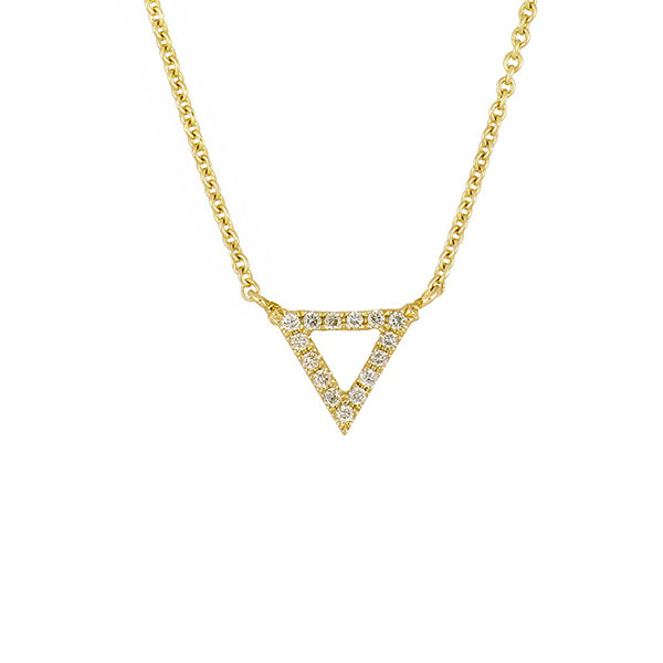 14K Yellow Gold Diamond Trinity Pendant Necklace - 0.25 ctw, 14k Gold Trinity Diamond Necklace, Eversmart Beauty