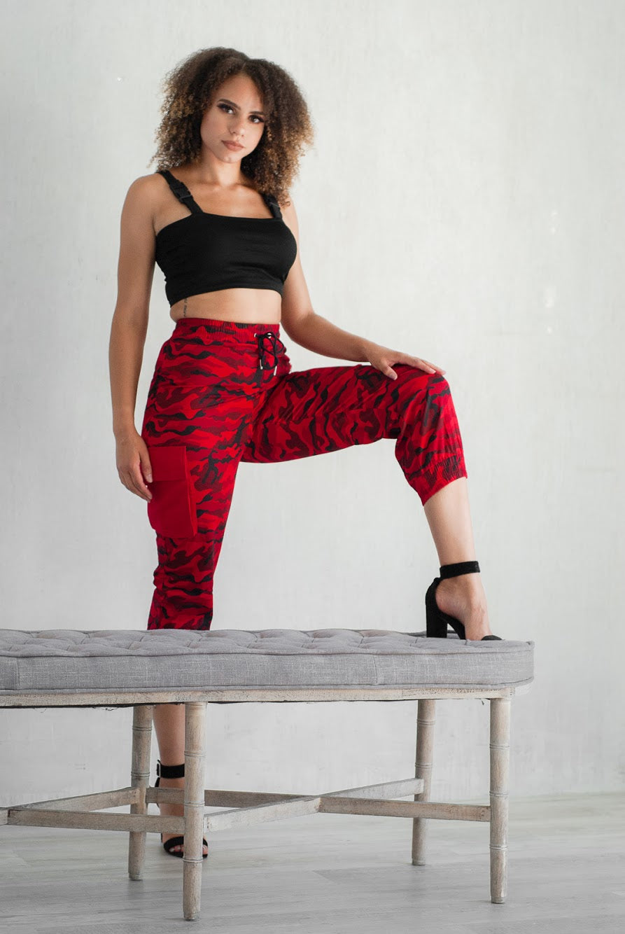 Raging Red Camo Pants