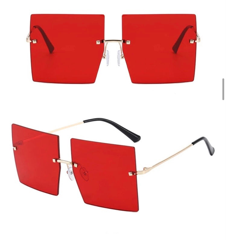 It Girl Oversized Shades-Rouge