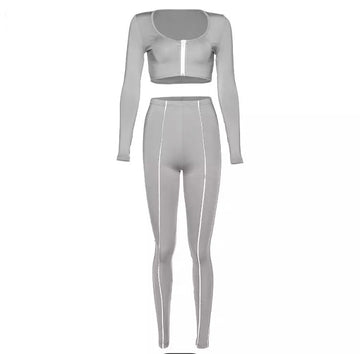 Rave Reflective 2 Piece Set- Grey