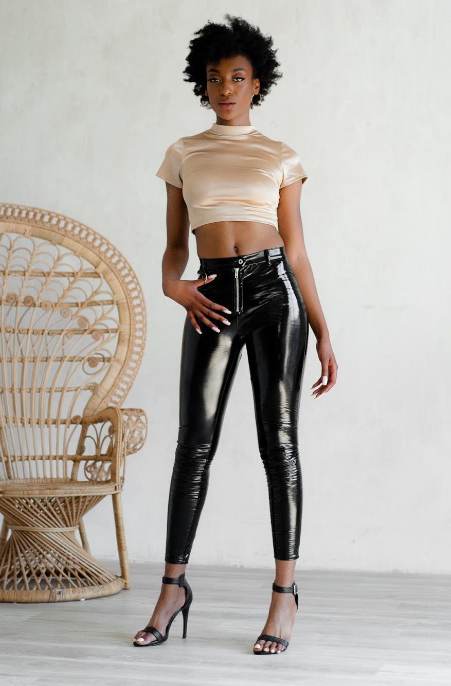 Set It Off Latex Pants