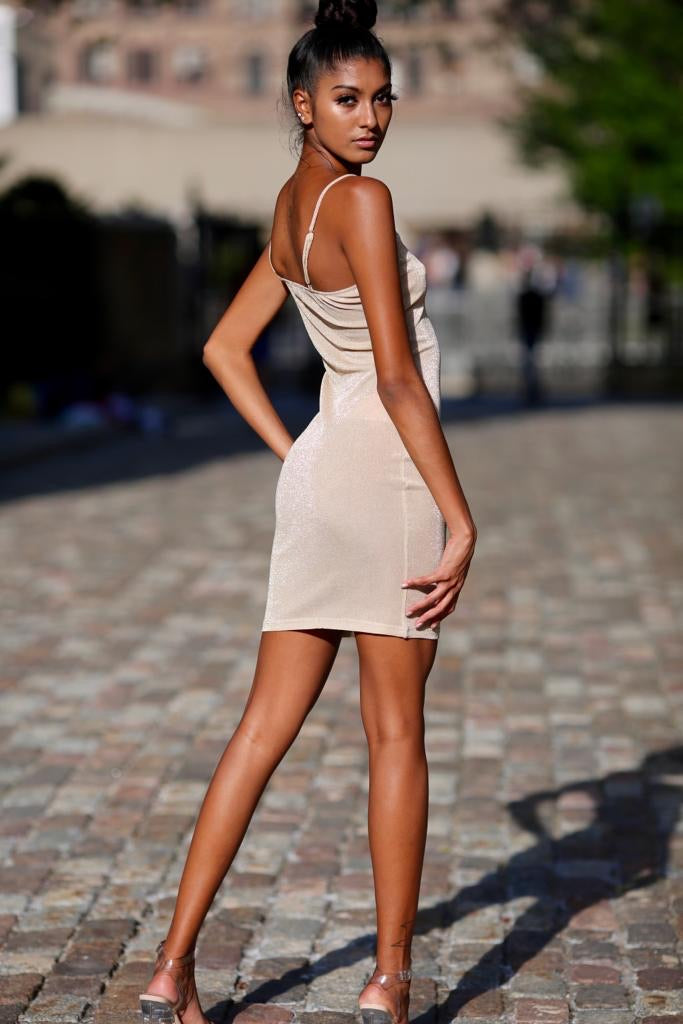 Starley Nude Spaghetti Strap Dress