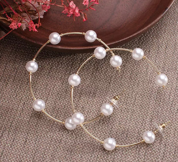 April Pearl Hoops