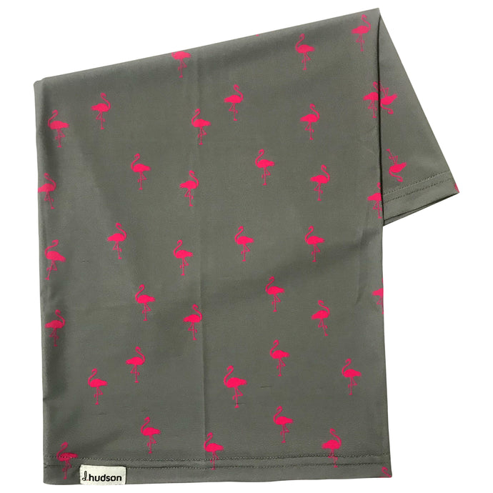 Flamingo Pool Party Neck Gaiter (Gray/Pink)