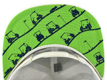 Golf Cart Madness (White/Lime/Navy)