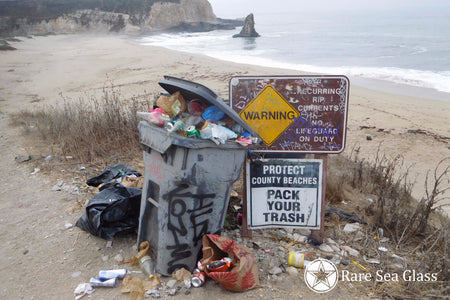 Davenport Beach Trash