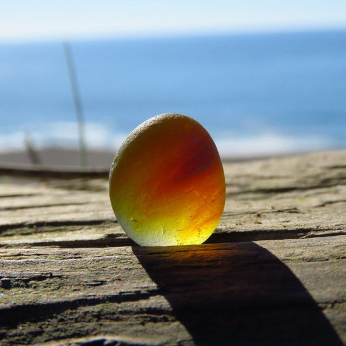 Davenport Amber, Yellow, Red and Orange Sea Glass