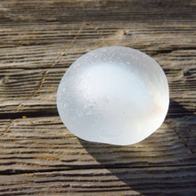 Davenport Clear with Perfect Opalescent Bulb Core Sea Glass