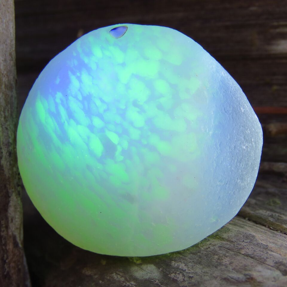 [Sold] Davenport Opalescent with Hidden UV Spots Sea Glass