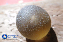[Sold] Davenport Clear Mushroom Head with Air Bubble Sea Glass