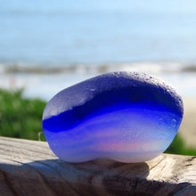 [Sold] Davenport Clear, Cobalt and Opalescent Layered Sea Glass