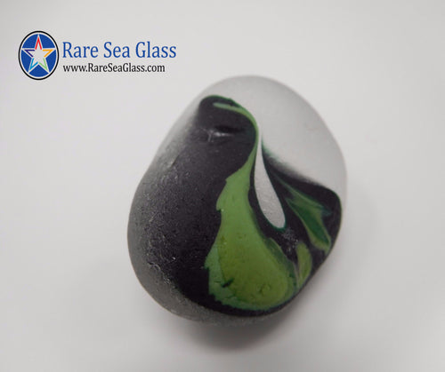 [Sold] Davenport Clear and Green Swirl Sea Glass