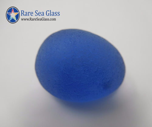 [Sold] Davenport Clear and Blue Wisp Egg Sea Glass