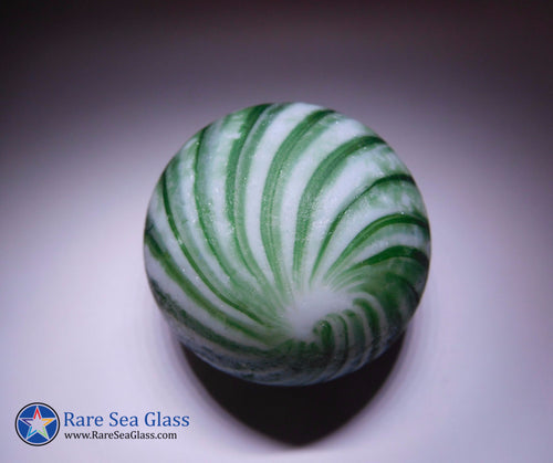 [Sold] Davenport Green and White Swirl Onion Sea Glass