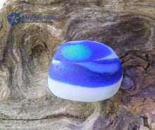 [Sold] Davenport Cobalt Blue, White and Clear with a Touch of UV Sea Glass