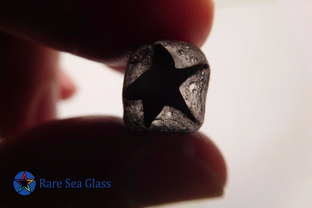 [Sold] Davenport Dark Red Star Cane/Rod Sea Glass