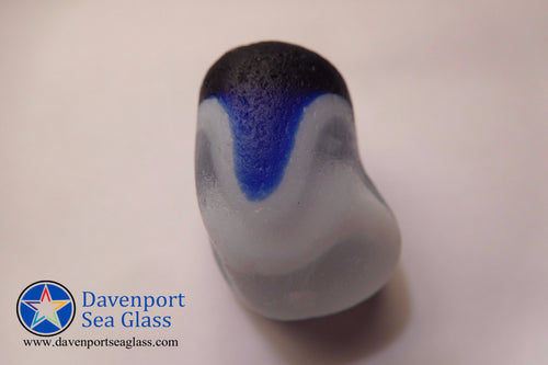 [Sold] Davenport Cobalt Blue, Clear and Opalescent