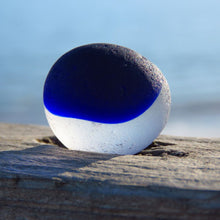 "[Sold] Davenport Cobalt and Clear ""Yin-Yang"" Sea Glass"