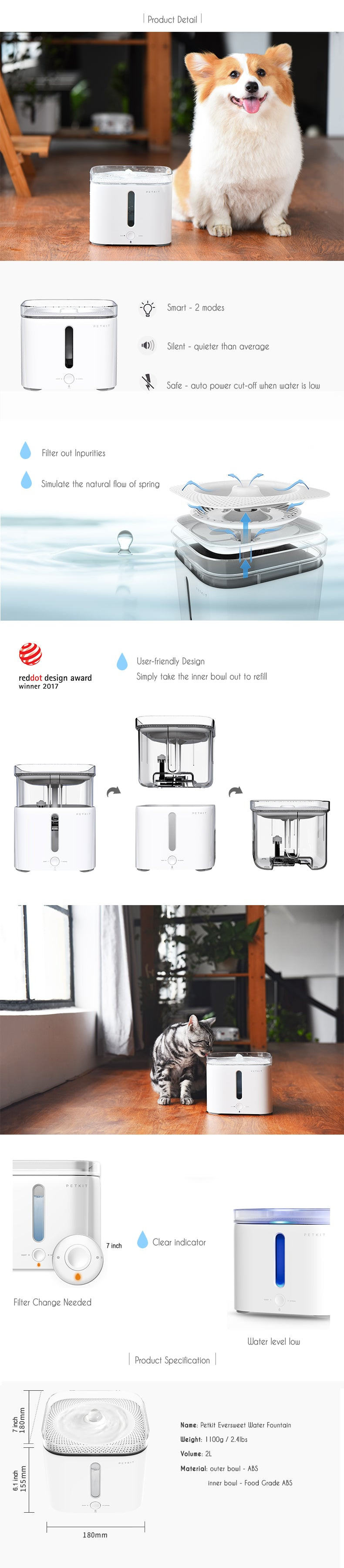 Petkit Eversweet Pet Water Fountain
