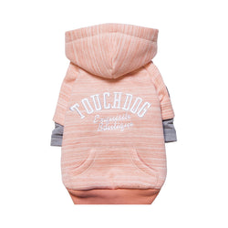 Touchdog Hampton Beach Designer Ultra Soft Sand-Blasted Cotton Pet Dog Hoodie Sweater Pink