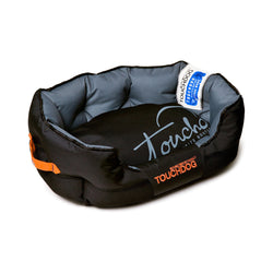 Toughdog Performance-Max Sporty Comfort Cushioned Dog Bed - Black