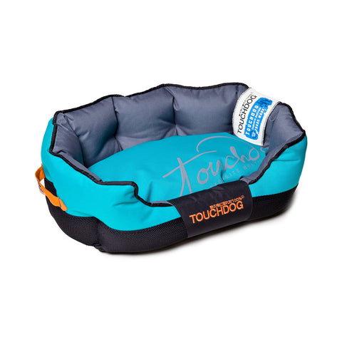 Toughdog Performance-Max Sporty Comfort Cushioned Dog Bed - Blue