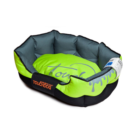 Toughdog Performance-Max Sporty Comfort Cushioned Dog Bed - Green