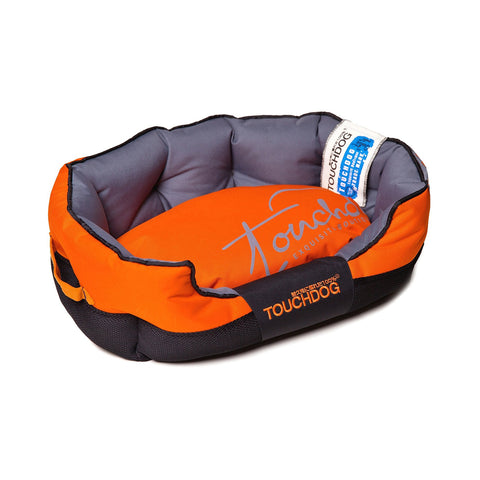 Toughdog Performance-Max Sporty Comfort Cushioned Dog Bed - Orange