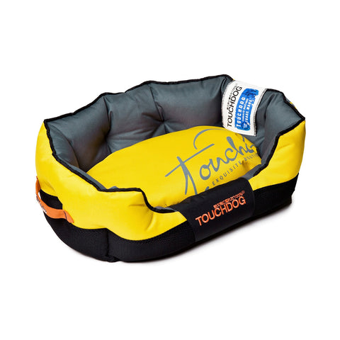 Toughdog Performance-Max Sporty Comfort Cushioned Dog Bed - Yellow