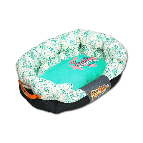 Touchdog Floral-Galore Ultra-Plush Rectangular Rounded Designer Dog Bed