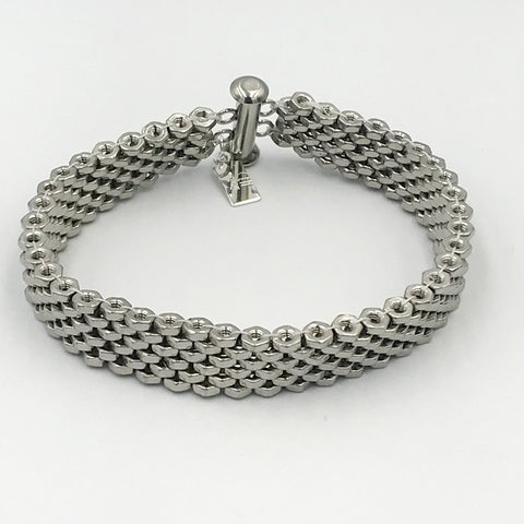 6 wide Stainless Steel Bracelet