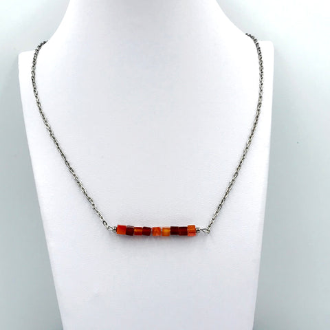 Carnelian Bar Necklace