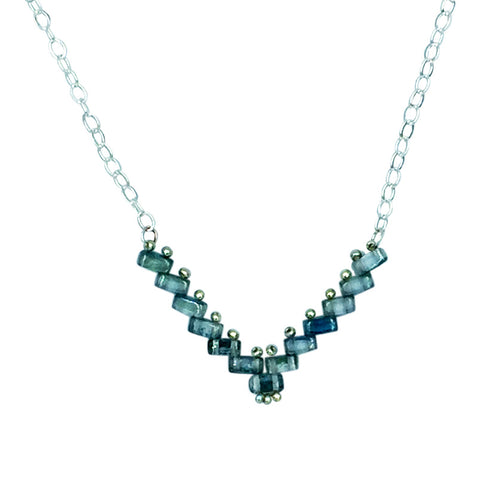 Blue Green Vee Necklace